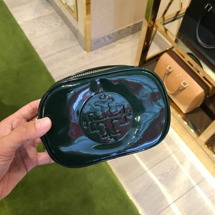 Tory Burch ポーチ SALE! TORY BURCH★STACKED PATENT SMALL COSMETIC CASE(9)
