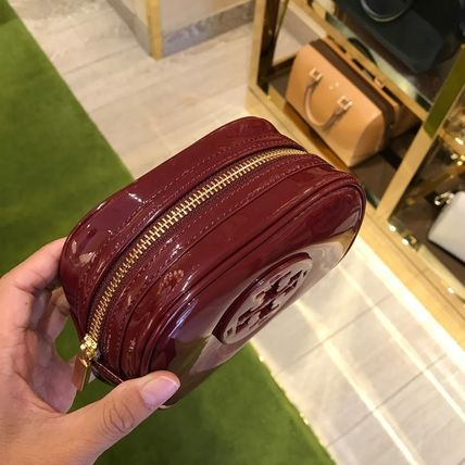 Tory Burch ポーチ SALE! TORY BURCH★STACKED PATENT SMALL COSMETIC CASE(12)