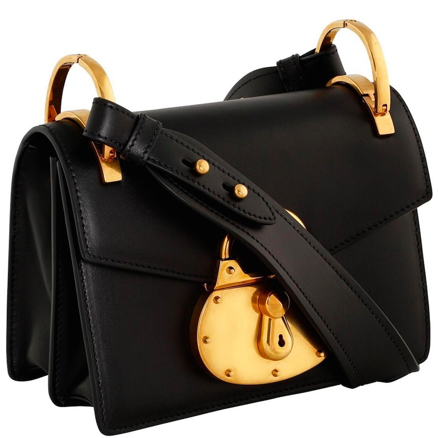 PR706 SMOOTH CALF SHOULDER BAG WITH PADLOCK DETAIL
