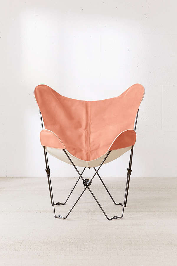 Urban Outfitters☆Leather Butterfly Chair Cover+Frame set
