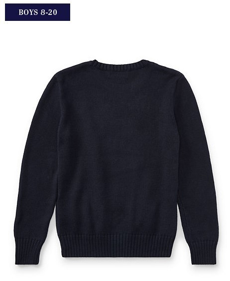 新作!大人もOK♪ POLO BEAR COTTON SWEATER boys 8~20