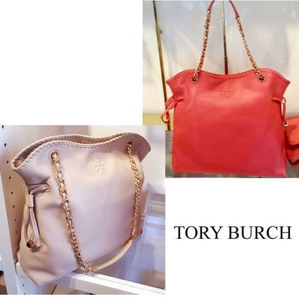 Tory Burch トートバッグ 【Tory Burch】新色 Marion Slouchy チェーンTote 関税送料込