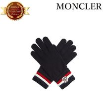 MONCLER モンクレール Striped wool-knit gloves