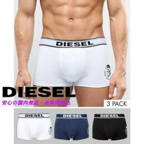Diesel Trunks In 3 Pack With Logo Waistband In Multi♪