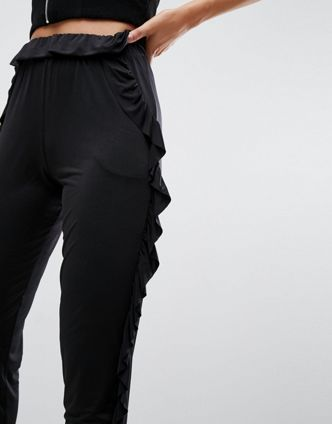ASOS【関税・送料込】Slinky Trouser with Ruffle Detail