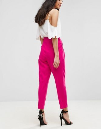 ASOS【関税・送料込】High Waist Tapered Trousers
