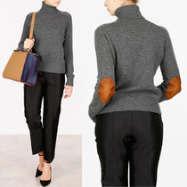 PR711 CASHMERE TURTLENECK SWEATER WITH ELBOW PATCH