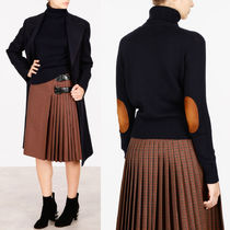 PR712 CASHMERE TURTLENECK SWEATER WITH ELBOW PATCH