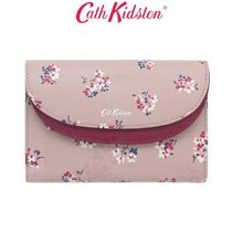 [Cath Kidston正規品] LEATHER PRINTED DOUBLE CURVE PURSE