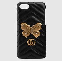 新作♪GUCCI GG Marmont moth stud iPhone 7 case レザー