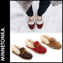 ★即日発送【MINNETONKA】ALPINE SHEEPSKIN MOC