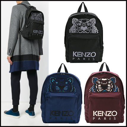17AW新作 KENZO Tiger 刺繍バックパック