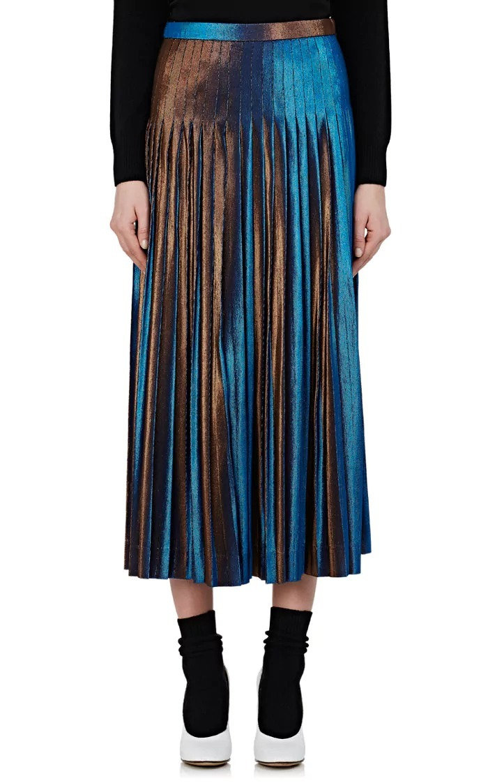 【17aw NEW】 Dries Van Noten_women /プリーツラメスカート