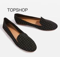 国内発送☆TOPSHOP★Stud Slippers☆BLACK