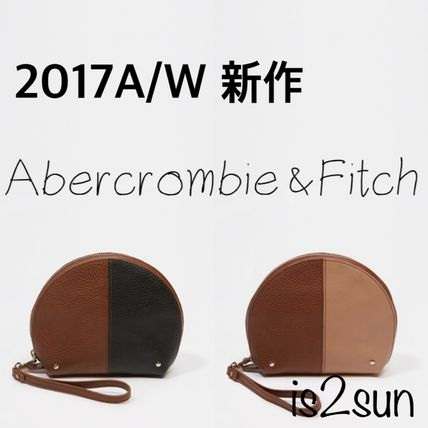 Abercrombie & Fitch メイクポーチ ☆2017AW秋冬☆新作 アバクロ/  LEATHER POUCH WRISTLET 本革