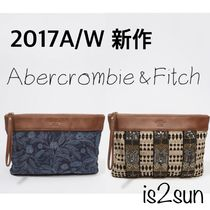 ☆2017AW秋冬☆新作 アバクロ/EMBELLISHED CANVAS CLUTCH