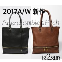 ☆2017AW秋冬☆新作 アバクロ/LEATHER EXPANDABLE TOTE 本革