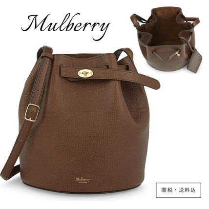 Mulberry ショルダーバッグ・ポシェット 関送込【Mulberry】コインパース付★アビーレザーバケットバッグ