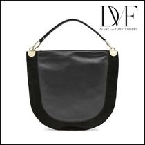 DIANE von FURSTENBERG★Leather Tote with Suede★