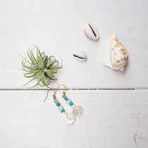 【即納】Shell and Turquoise Pierce《GOLD》