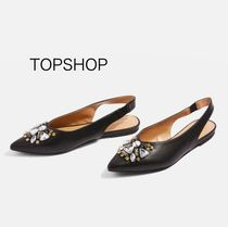 国内発送☆TOPSHOP★AVA Gem Slingback Shoes☆BLACK