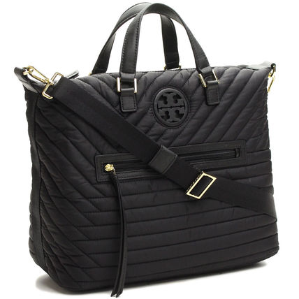 Tory Burch最新*QUILTED NYLON SLOUCHY SATCHEL/45360円