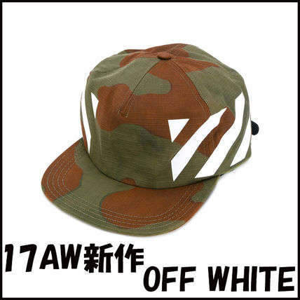 17AW新作 OFF WHITE 迷彩柄 キャップ