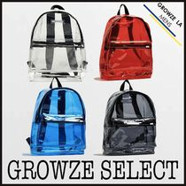 ★【GROWZE SELECT】コーデのアクセントに クリア バックパック