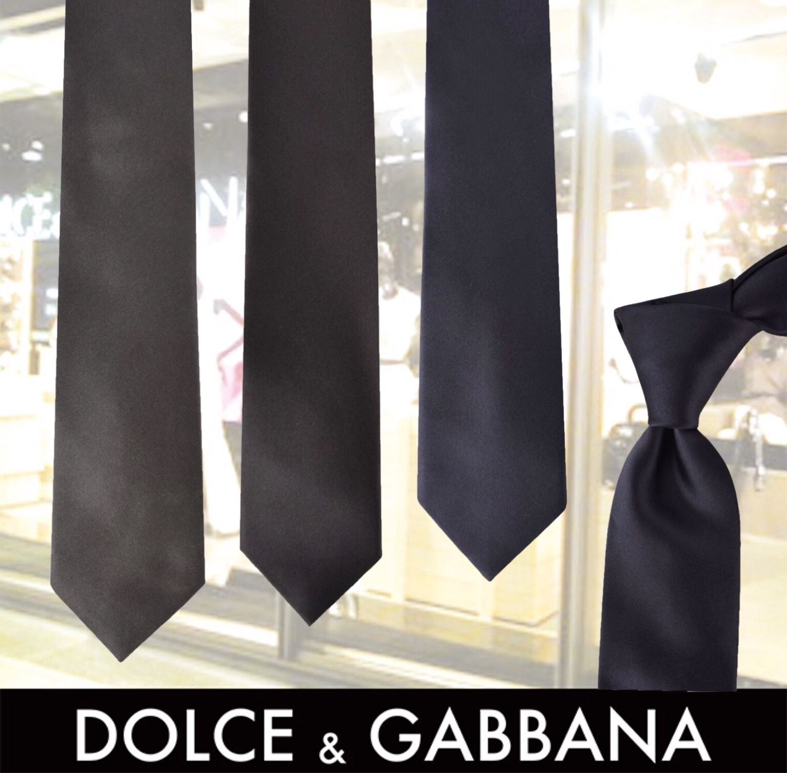DOLCE AND GABBANA SILK TIE 関税送料込