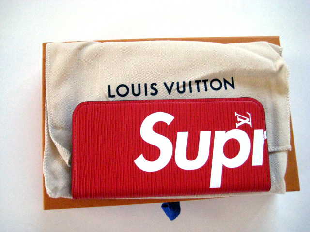 17Supreme x Louis Vuitton IPHONE 7 FOLIOスマホケース赤