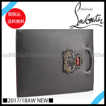 New■ChristianLouboutin■Trictrac LargeクラッチCharbon関税込