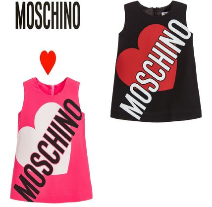 17-18AW【Moschino】2色展開 ロゴ&ハートワンピース 大人OK