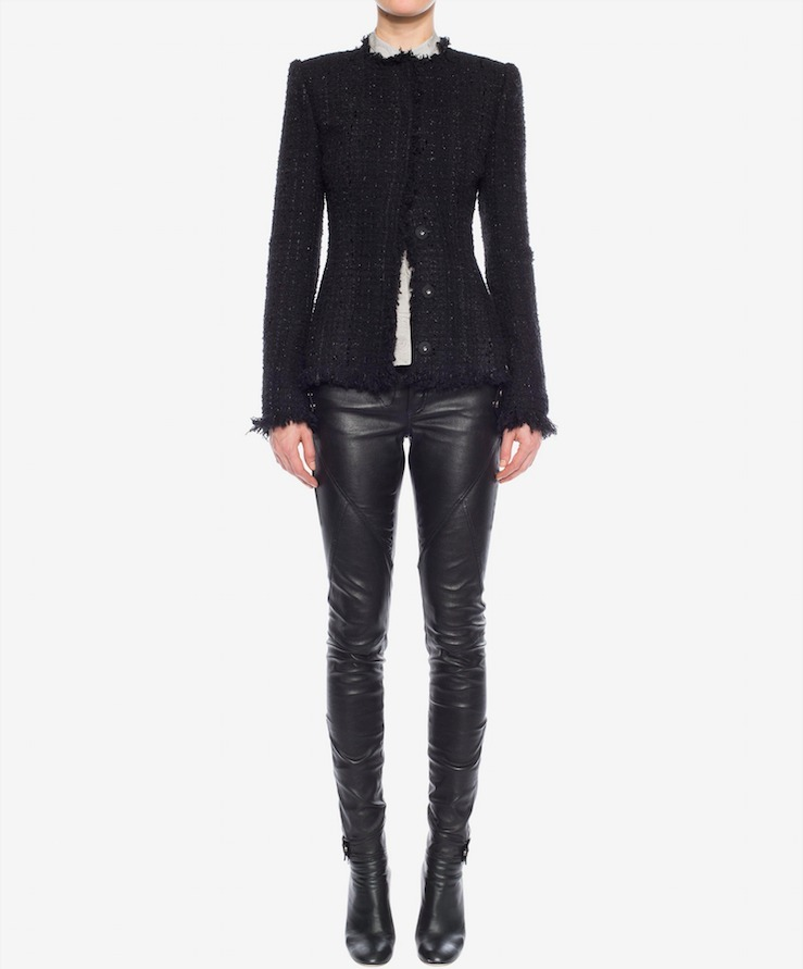 17-18AW AM235 LEATHER STRETCH BIKER TROUSERS