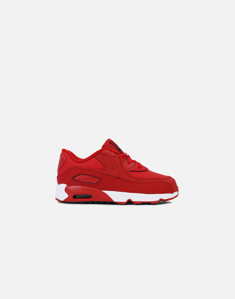 SS17 NIKE AIR MAX 90 LEATHER INFANT TD GYM RED  送料無料