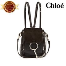 Chloe クロエ Faye mini suede and leather backpack