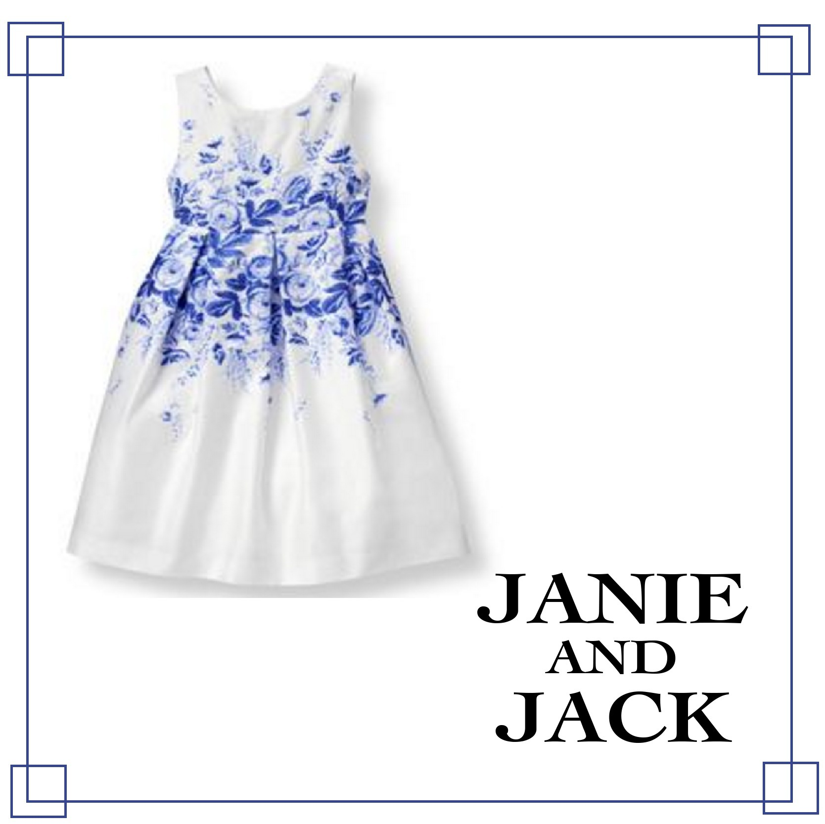Janie and Jack☆Floral Sateen Dress