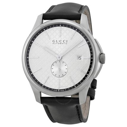 GUCCI メンズ G-Timeless Automatic Silver Dial 腕時計