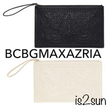 2017AW秋冬☆BCBG MAXAZRIA/Jordy Stitched Faux-Leather Clutch