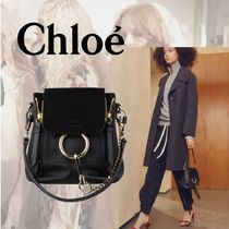 Chloe Faye Mini Backpack  Black