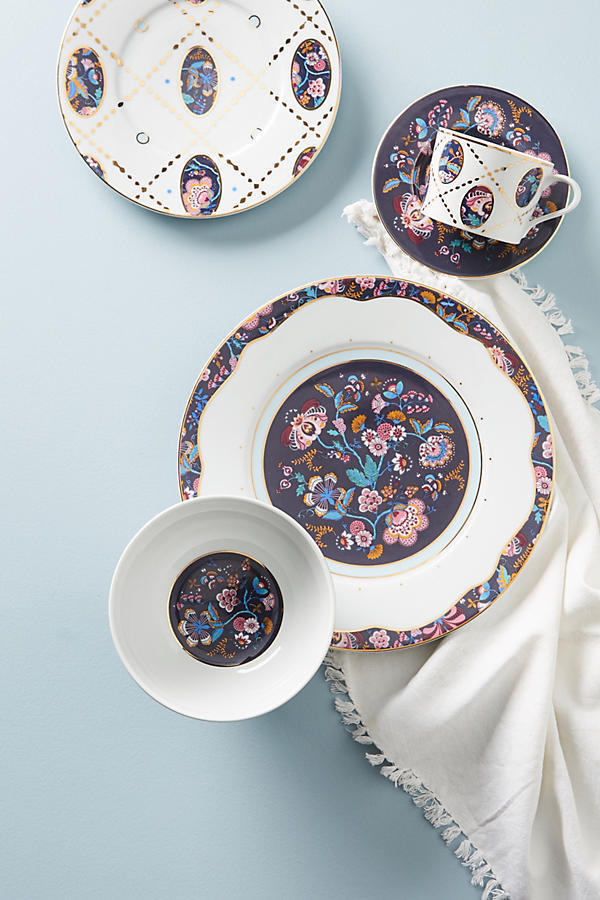 18AW☆関送込【Liberty×Anthro】Mabelle Floral Dinner Plate