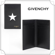 関税込☆LEATHER CARD HOLDER WITH STAR☆ GIVENCHY