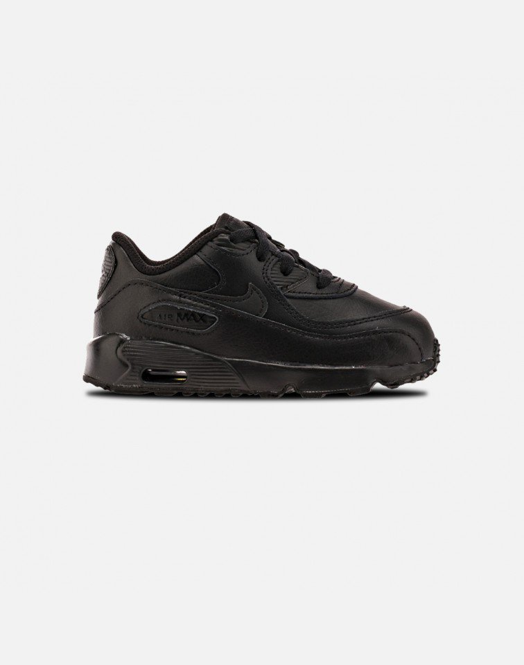 SS17 NIKE AIR MAX 90 LEATHER INFANT TD BLACK  送料無料
