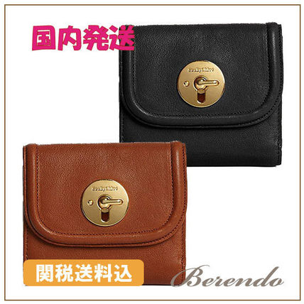 See by Chloe 長財布 国内発送◆See by Chloe Lois Square Leather Wallet 長財 2色