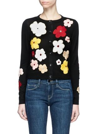 Alice + Olivia Lyndia Floral Embroidered  カーディガンセール