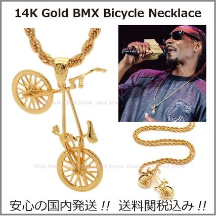King Ice ネックレス・チョーカー 送料税込【King Ice】14K Gold BMX Bicycleネックレス☆国内発送