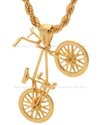 King Ice ネックレス・チョーカー 送料税込【King Ice】14K Gold BMX Bicycleネックレス☆国内発送(3)