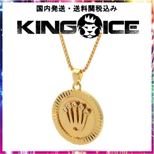 日本未入荷☆KING ICE☆18K Gold Diamond Medusa Pendant