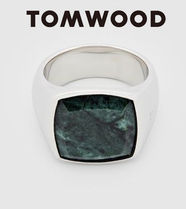 【Tom Wood/トムウッド】Cushion Green Marble リング ★