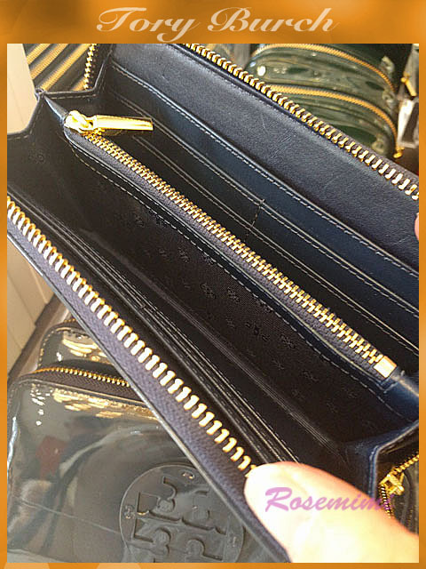Tory Burchパテント長財布★STACKED PATENT ZIP CONTINENTAL3色