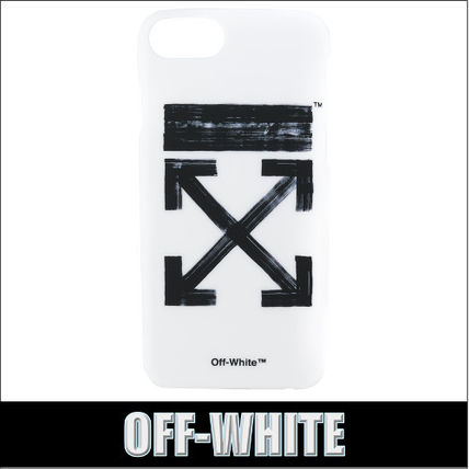 OFF-WHITE★BRUSHED ARROWS iPhone 7 ケース ホワイト